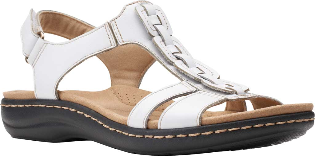 Women's Clarks Laurieann Kay Strappy Slingback Sandal, White Leather, large, image 1