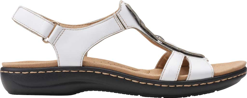 Women's Clarks Laurieann Kay Strappy Slingback Sandal, White Leather, large, image 2