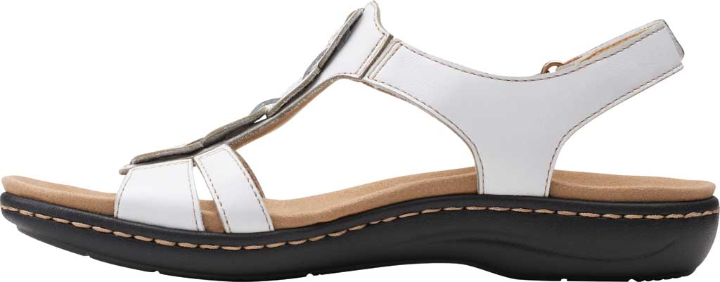 Women's Clarks Laurieann Kay Strappy Slingback Sandal, White Leather, large, image 3