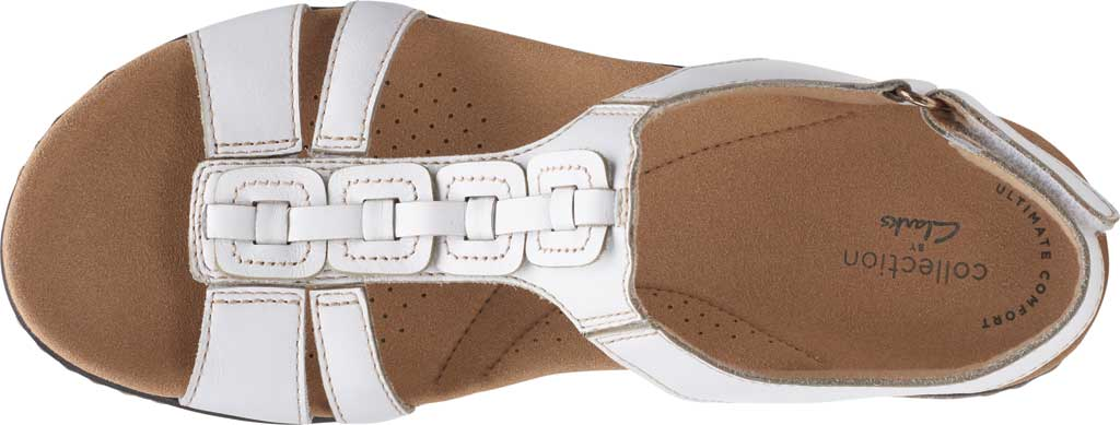 Women's Clarks Laurieann Kay Strappy Slingback Sandal, White Leather, large, image 5