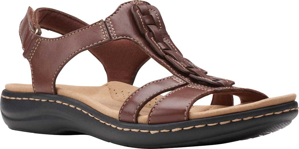 Women's Clarks Laurieann Kay Strappy Slingback Sandal, Tan Leather, large, image 1