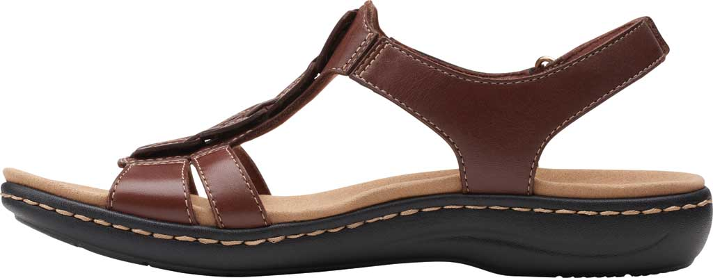 Women's Clarks Laurieann Kay Strappy Slingback Sandal, Tan Leather, large, image 3