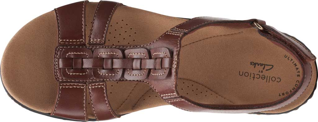 Women's Clarks Laurieann Kay Strappy Slingback Sandal, Tan Leather, large, image 5