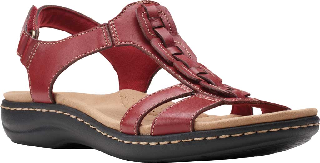 Women's Clarks Laurieann Kay Strappy Slingback Sandal, Red Leather, large, image 1