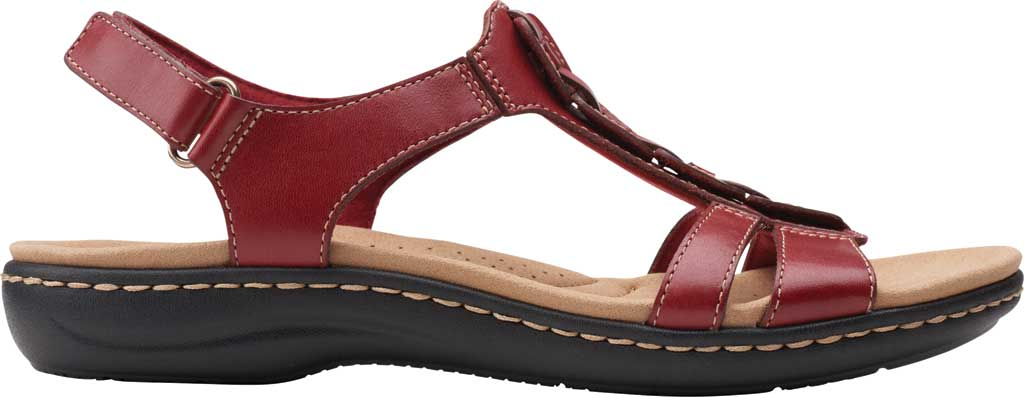 Women's Clarks Laurieann Kay Strappy Slingback Sandal, Red Leather, large, image 2