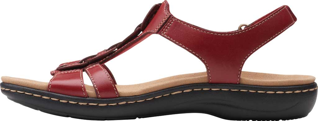Women's Clarks Laurieann Kay Strappy Slingback Sandal, Red Leather, large, image 3