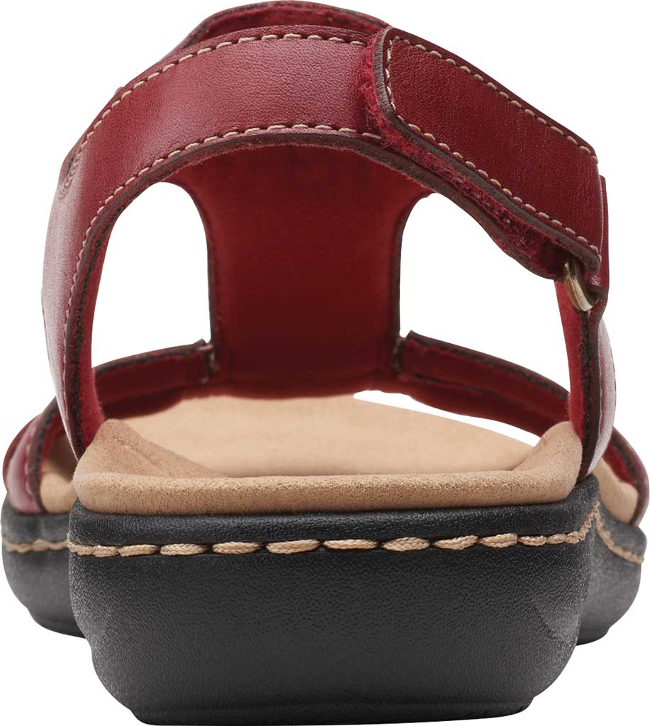 Women's Clarks Laurieann Kay Strappy Slingback Sandal, Red Leather, large, image 4