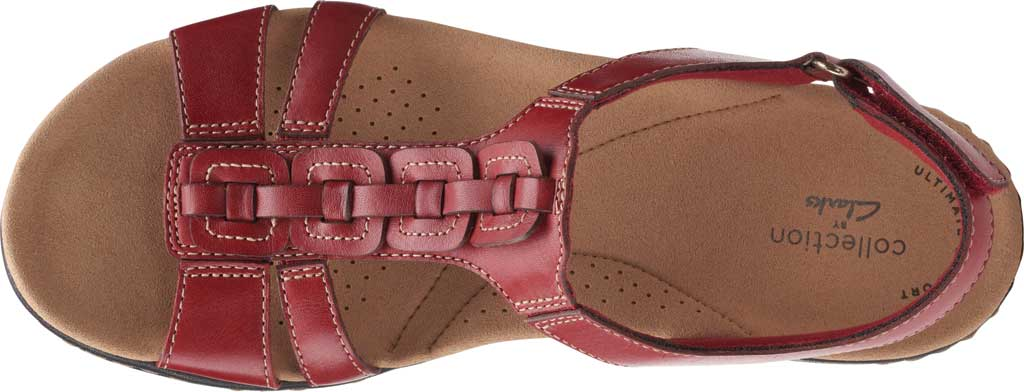 Women's Clarks Laurieann Kay Strappy Slingback Sandal, Red Leather, large, image 5