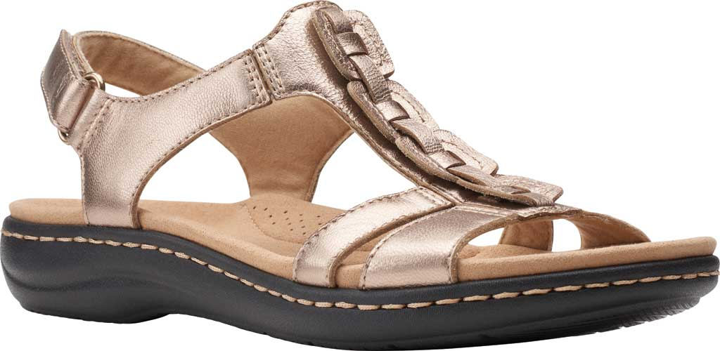 Women's Clarks Laurieann Kay Strappy Slingback Sandal, Metallic Leather, large, image 1