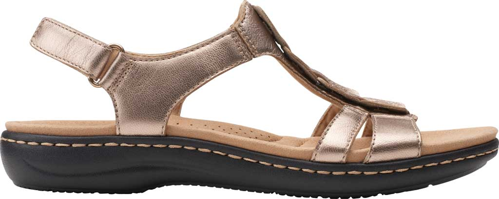 Women's Clarks Laurieann Kay Strappy Slingback Sandal, Metallic Leather, large, image 2