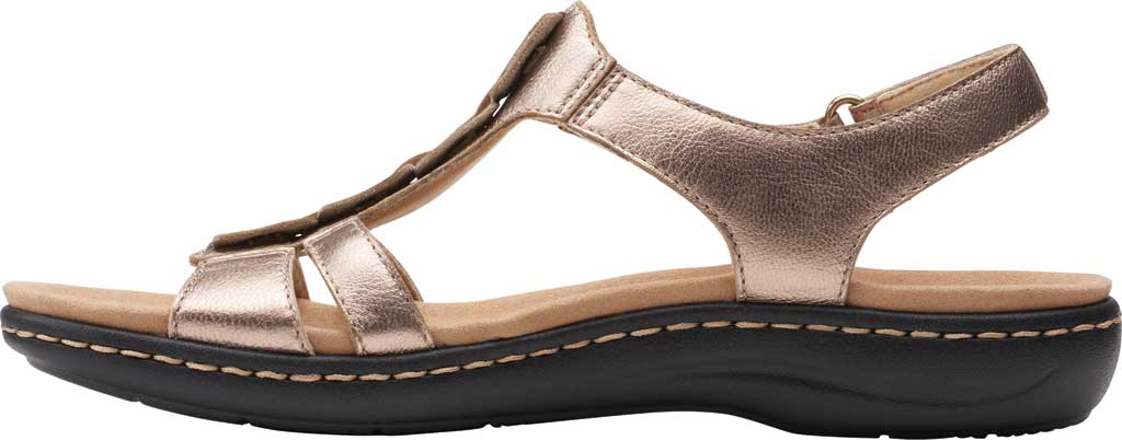 Women's Clarks Laurieann Kay Strappy Slingback Sandal, Metallic Leather, large, image 3