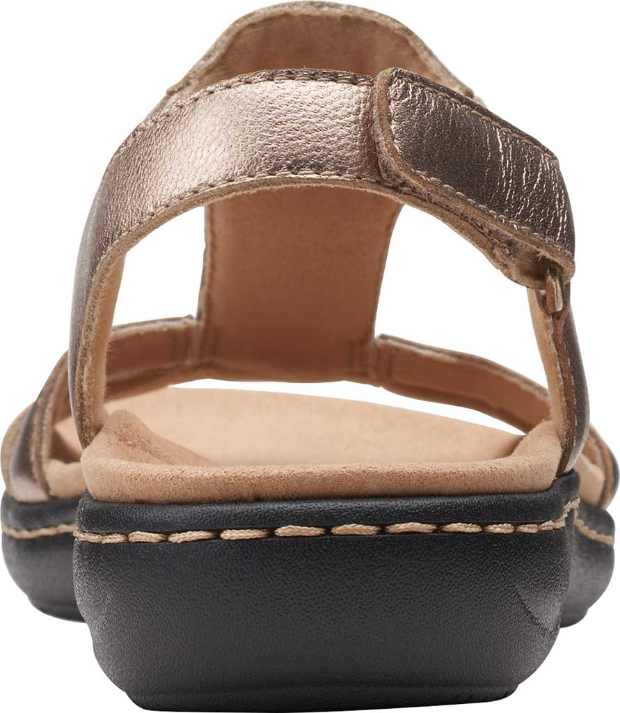 Women's Clarks Laurieann Kay Strappy Slingback Sandal, Metallic Leather, large, image 4