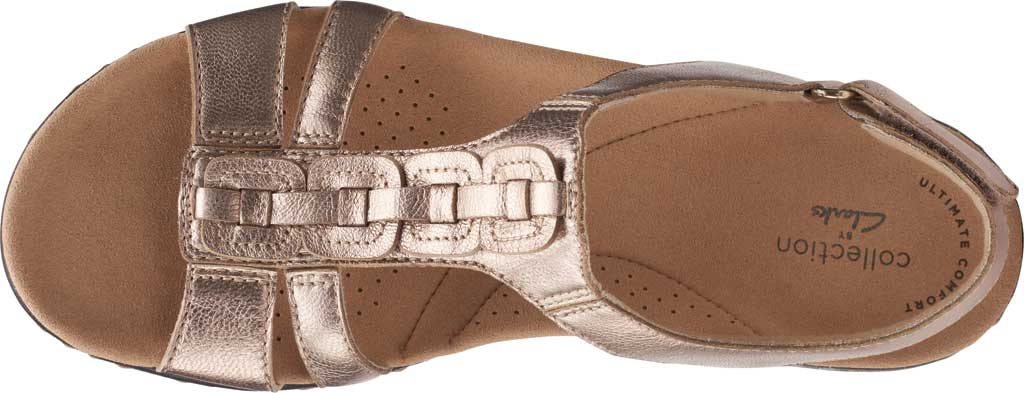 Women's Clarks Laurieann Kay Strappy Slingback Sandal, Metallic Leather, large, image 5