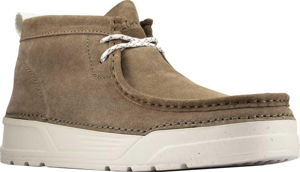 Men's Clarks OriginWallabee High Top Moc Toe Sneaker, Olive Suede, large, image 1