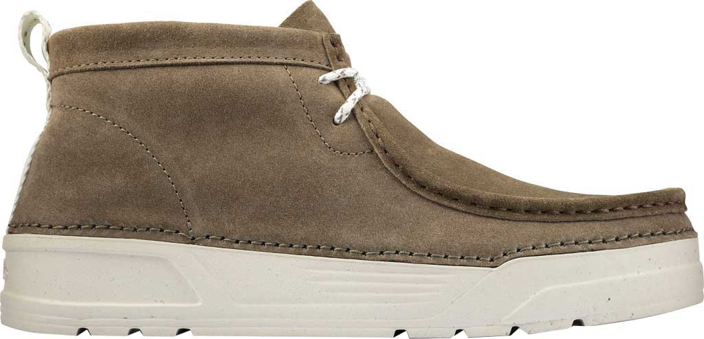 Men's Clarks OriginWallabee High Top Moc Toe Sneaker, Olive Suede, large, image 2