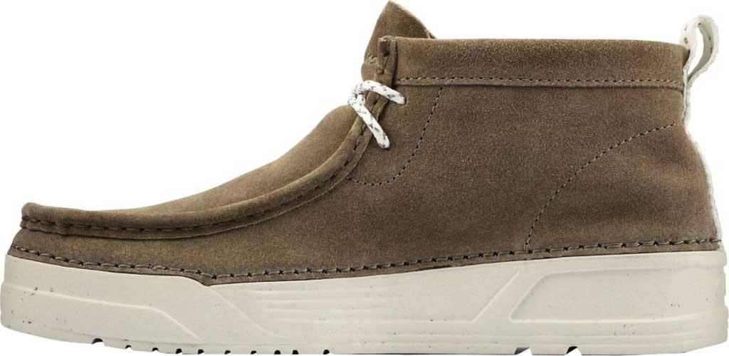 Men's Clarks OriginWallabee High Top Moc Toe Sneaker, Olive Suede, large, image 3