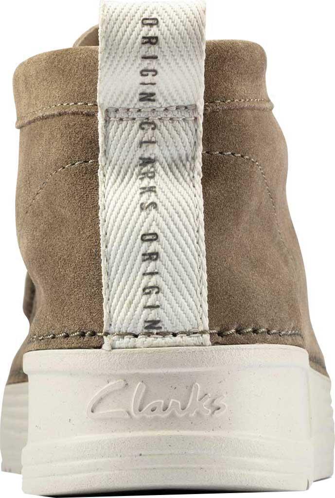 Men's Clarks OriginWallabee High Top Moc Toe Sneaker, Olive Suede, large, image 4