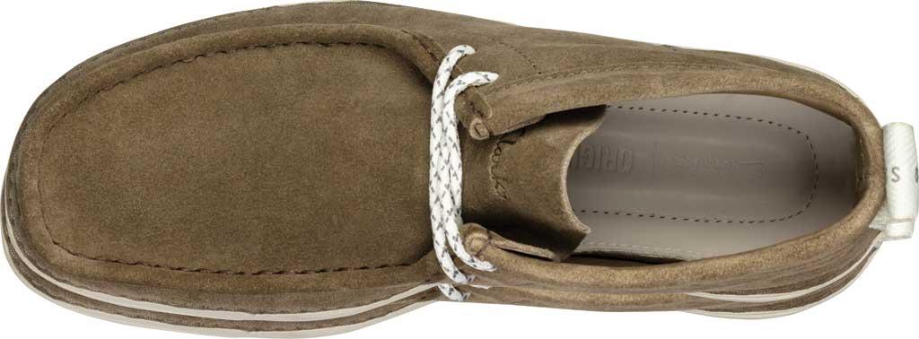 Men's Clarks OriginWallabee High Top Moc Toe Sneaker, Olive Suede, large, image 5