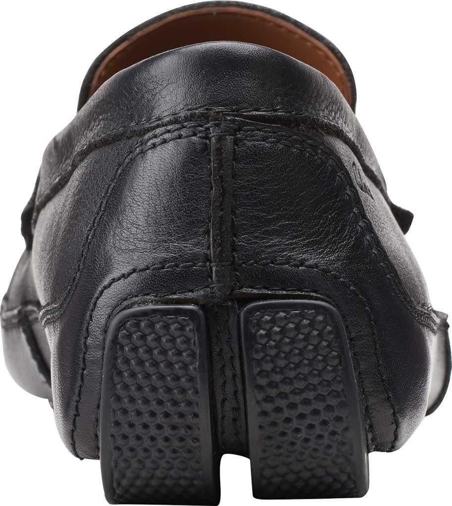 Men's Clarks Markman Brace Moc Toe Loafer, Black Leather, large, image 4
