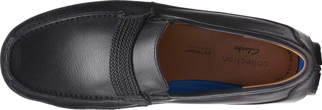 Men's Clarks Markman Brace Moc Toe Loafer, Black Leather, large, image 5