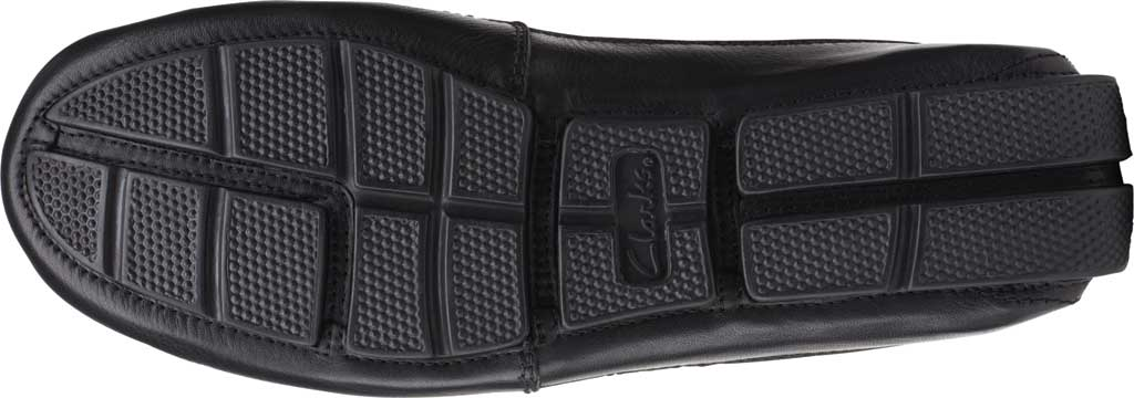 Men's Clarks Markman Brace Moc Toe Loafer, Black Leather, large, image 6