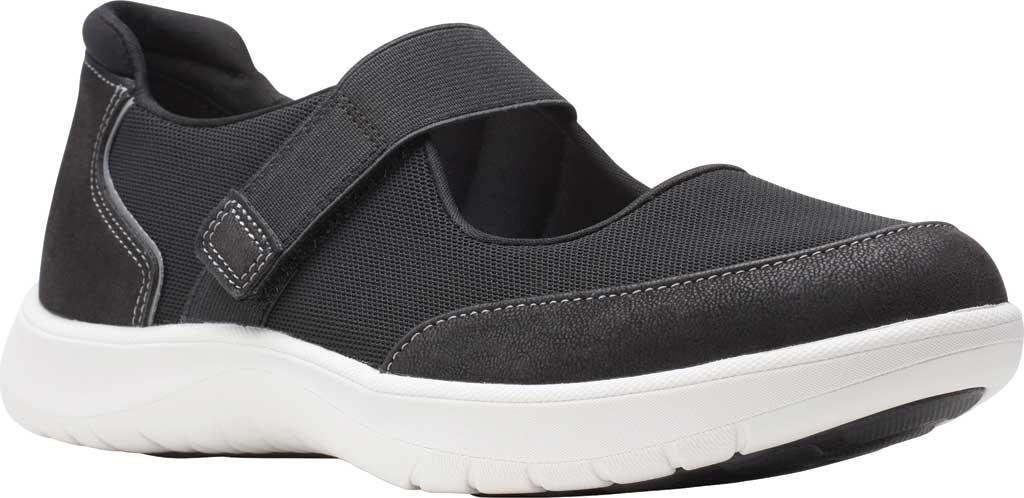 Women's Clarks Adella West Mary Jane Sneaker, Black Textile, large, image 1