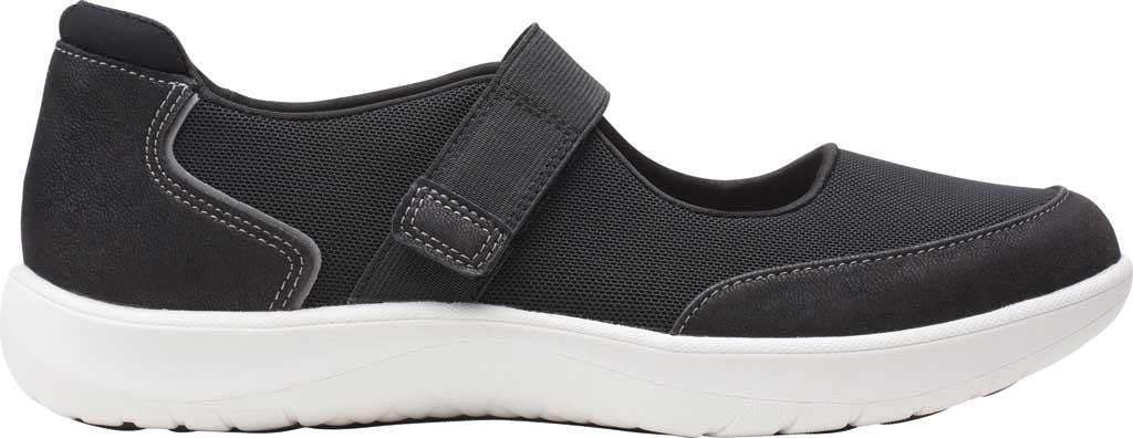 Women's Clarks Adella West Mary Jane Sneaker, Black Textile, large, image 2