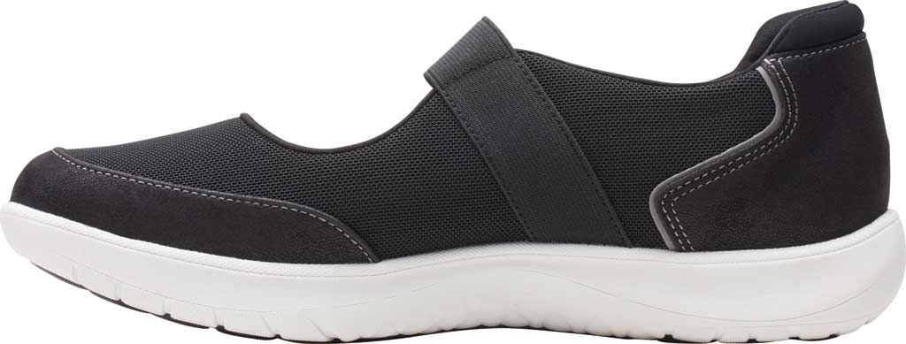 Women's Clarks Adella West Mary Jane Sneaker, Black Textile, large, image 3