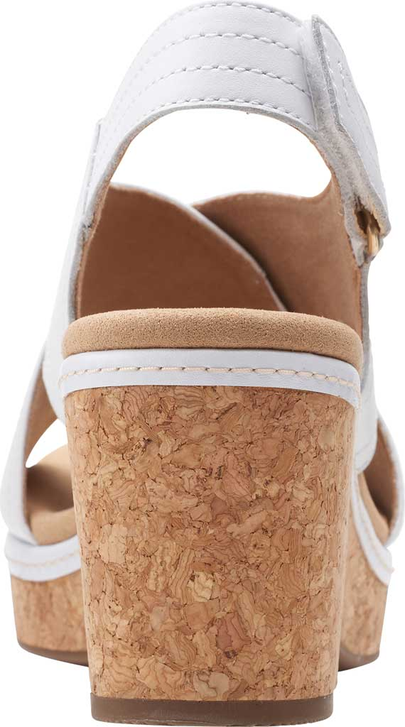 Women's Clarks Giselle Cove Wedge Slingback Sandal, White Leather, large, image 4