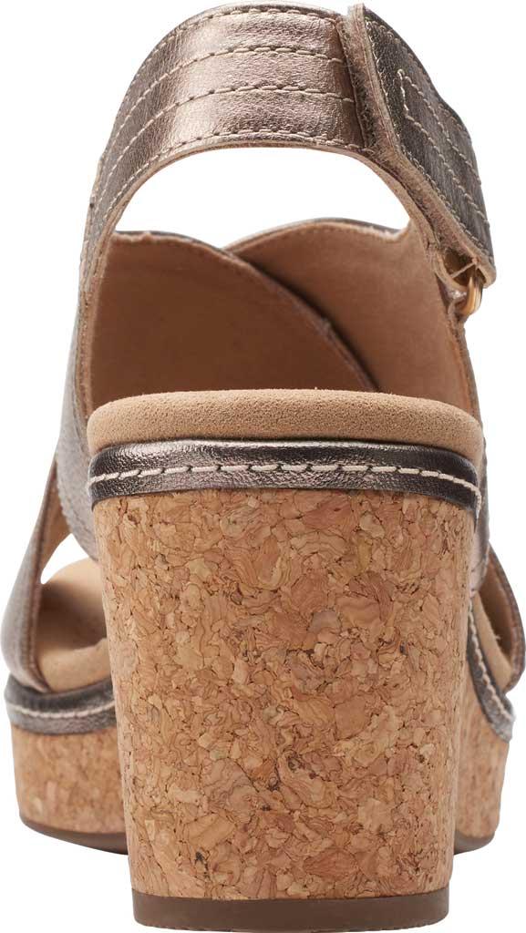 Women's Clarks Giselle Cove Wedge Slingback Sandal, Metallic Leather, large, image 4