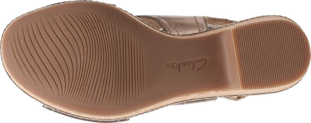 Women's Clarks Giselle Cove Wedge Slingback Sandal, Metallic Leather, large, image 6