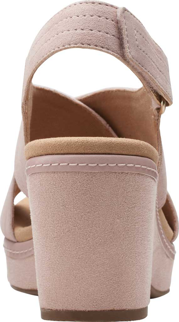 Women's Clarks Giselle Cove Wedge Slingback Sandal, Dusty Rose Suede, large, image 4