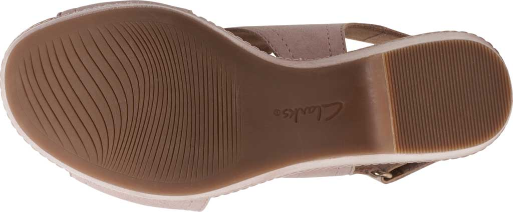 Women's Clarks Giselle Cove Wedge Slingback Sandal, Dusty Rose Suede, large, image 6