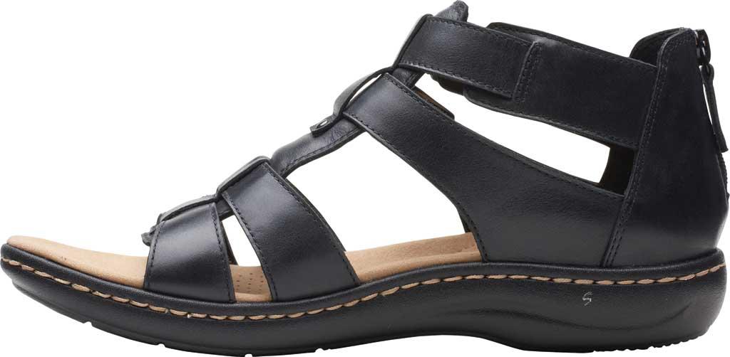 Women's Clarks Laurieann Remi Strappy Sandal, Black Nubuck, large, image 3