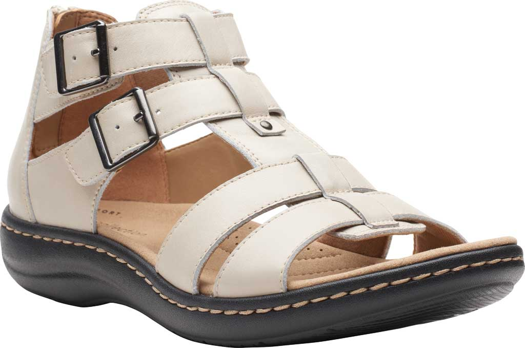 Women's Clarks Laurieann Remi Strappy Sandal, Ivory Nubuck, large, image 1