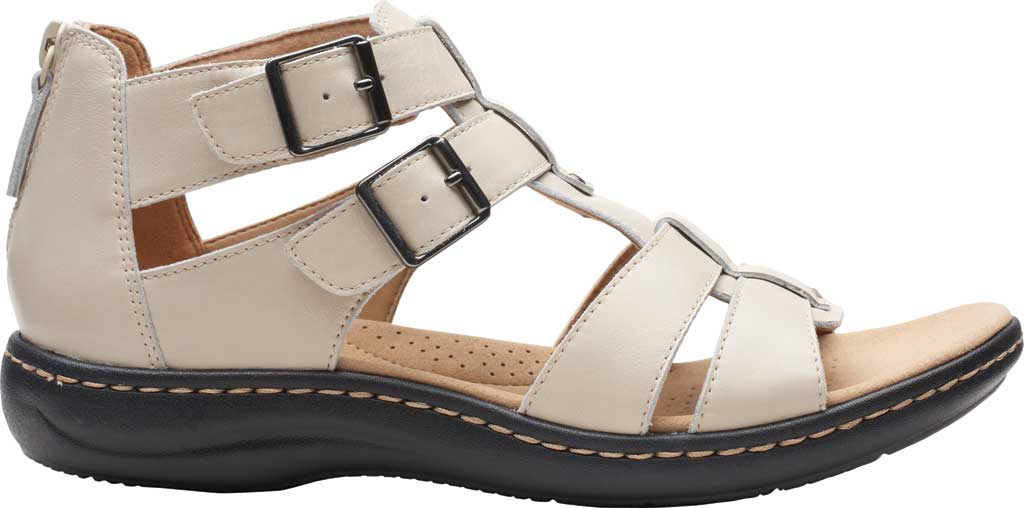Women's Clarks Laurieann Remi Strappy Sandal, Ivory Nubuck, large, image 2