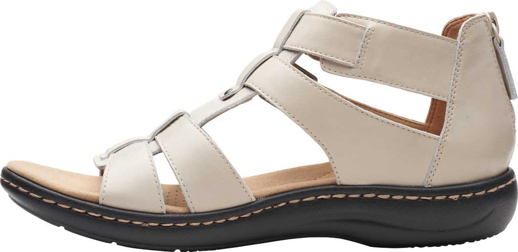 Women's Clarks Laurieann Remi Strappy Sandal, Ivory Nubuck, large, image 3