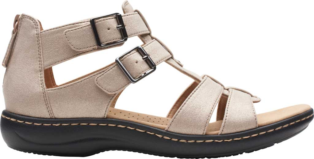 Women's Clarks Laurieann Remi Strappy Sandal, Metallic Leather, large, image 2