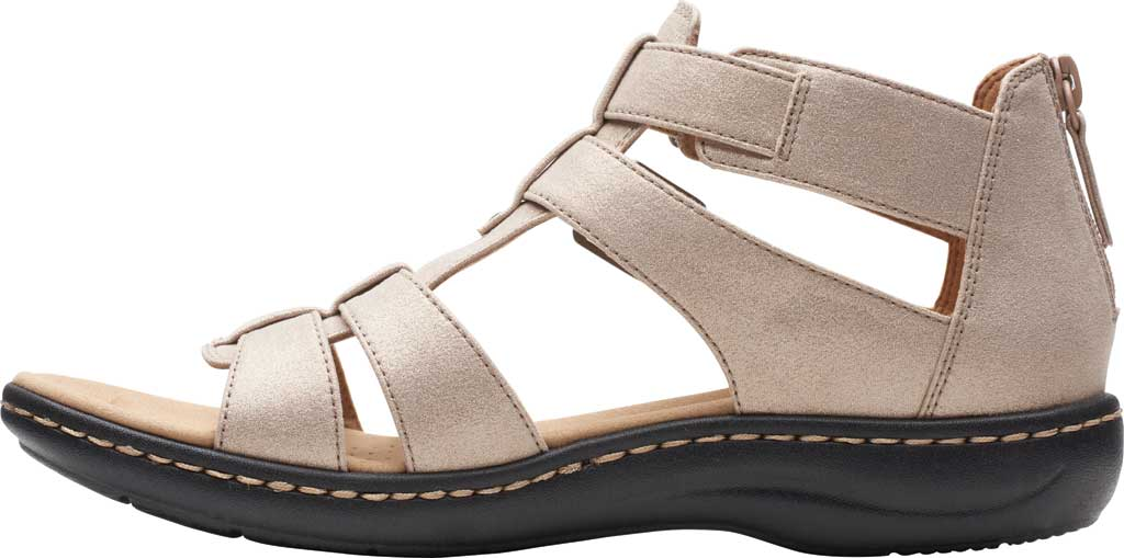 Women's Clarks Laurieann Remi Strappy Sandal, Metallic Leather, large, image 3