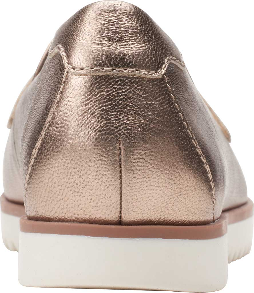 Women's Clarks Serena Terri Penny Loafer, Metallic Leather, large, image 4