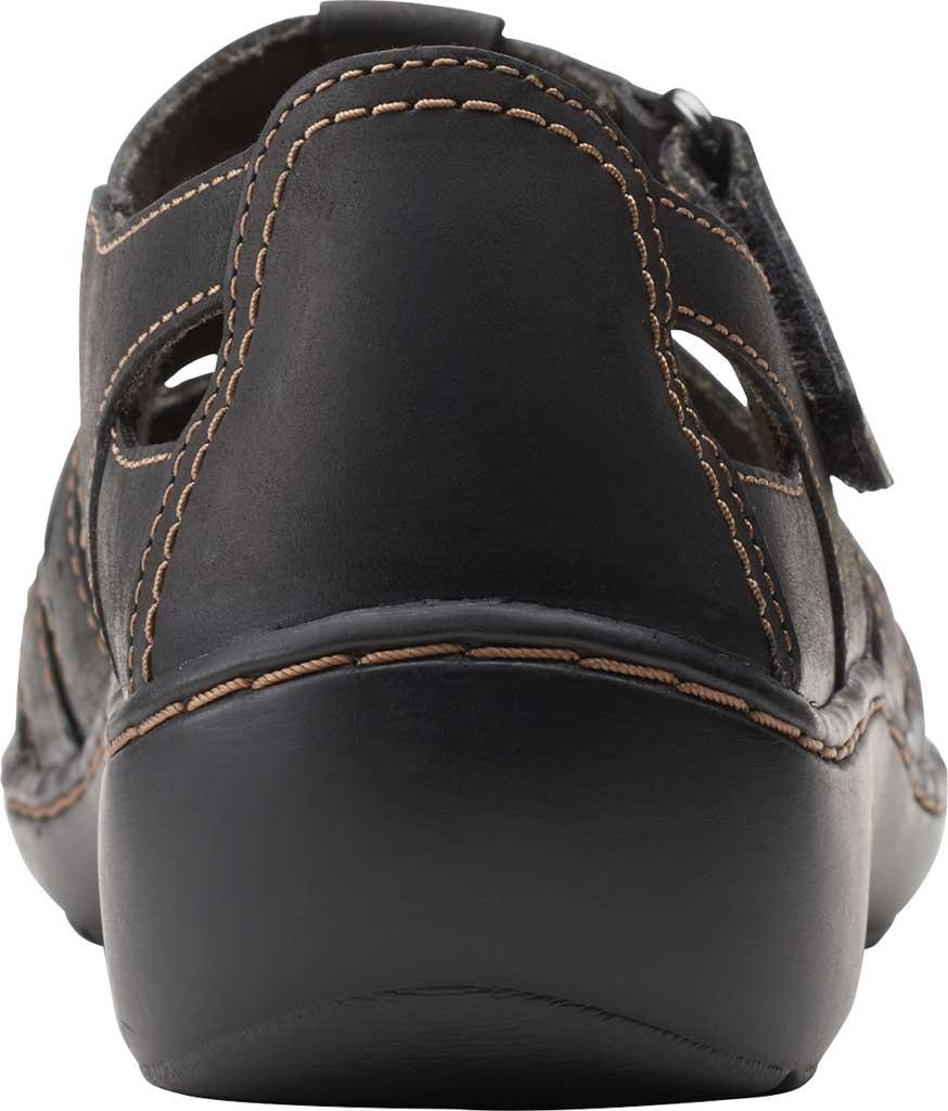 Women's Clarks Cora River Fisherman Sandal, Black Leather, large, image 4
