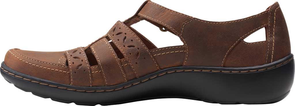 Women's Clarks Cora River Fisherman Sandal, Dark Tan Leather, large, image 3