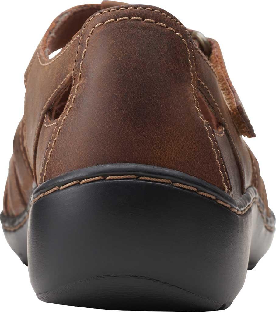 Women's Clarks Cora River Fisherman Sandal, Dark Tan Leather, large, image 4