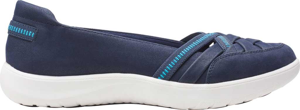 Women's Clarks Adella Poppy Slip On Sneaker, Navy Textile, large, image 2