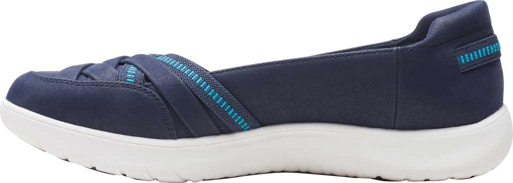 Women's Clarks Adella Poppy Slip On Sneaker, Navy Textile, large, image 3
