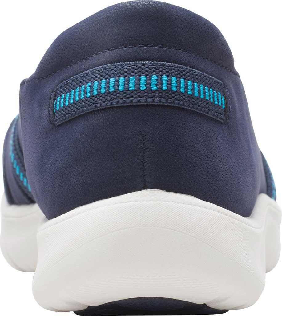 Women's Clarks Adella Poppy Slip On Sneaker, Navy Textile, large, image 4