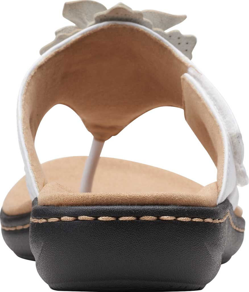 Women's Clarks Laurieann Gema Thong Sandal, White Leather, large, image 4