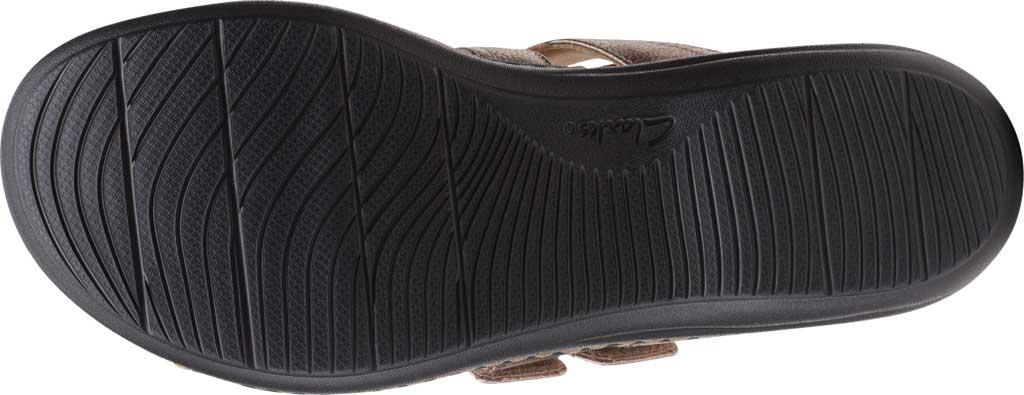 Women's Clarks Laurieann Gema Thong Sandal, Metallic Leather, large, image 6