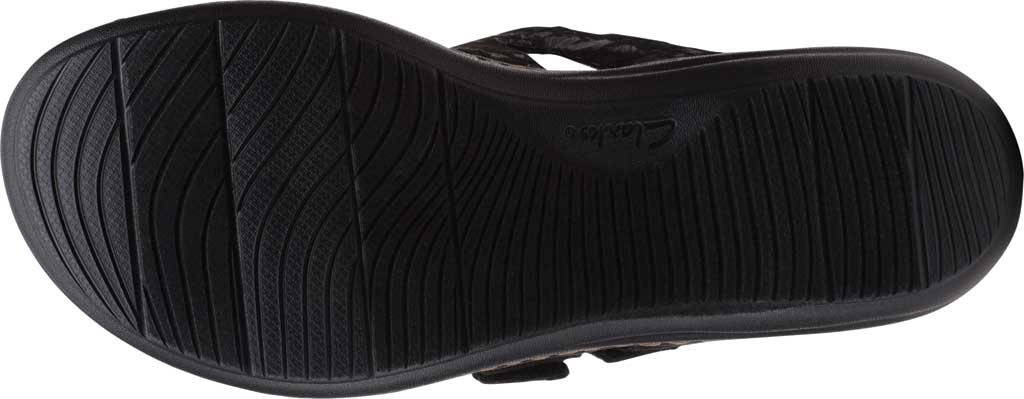 Women's Clarks Laurieann Gema Thong Sandal, Black Leather/Synthetic Combination, large, image 6