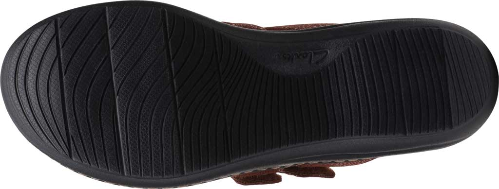 Women's Clarks Laurieann Gema Thong Sandal, Brown Leather/Synthetic Combination, large, image 6
